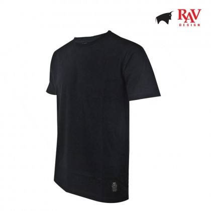 Rav Design Men's 100% Cotton Round Neck T-Shirt Navy Blue |RRT29671