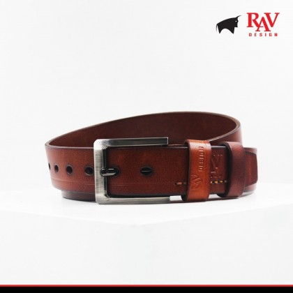 Rav Design Men's 100% Leather Pin Buckle Belt |YRB047G1