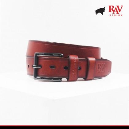 Rav Design Men's 100% Leather Pin Buckle Belt |YRB042G1