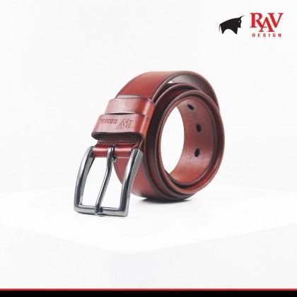 Rav Design Men's 100% Leather Pin Buckle Belt  YRB042G1