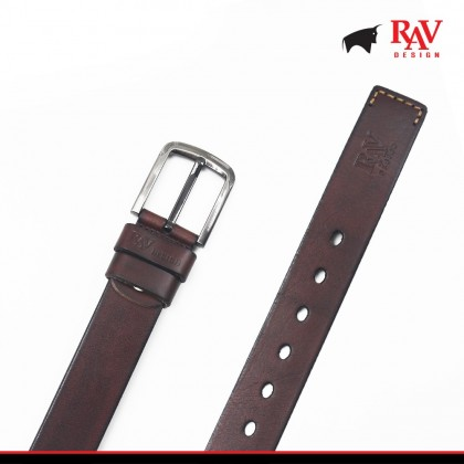 Rav Design Men's 100% Leather Pin Buckle Belt |YRB040G1