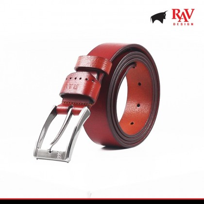 Rav Design Men's 100% Leather Pin Buckle Belt |YRB022G1