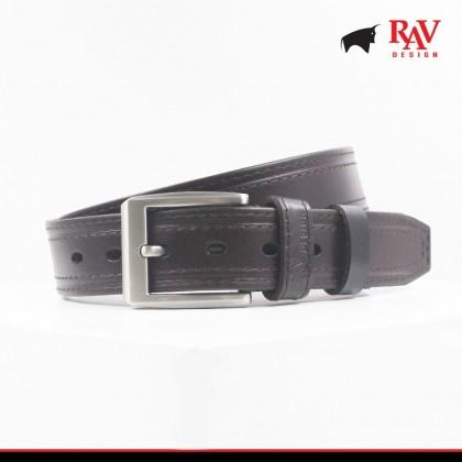 Rav Design Men's 100% Leather Pin Buckle Belt |YRB008G1