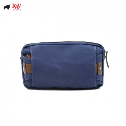 RAV DESIGN SLING BAG CROSSBODY BAG CANVAS BLUE |RVC437G1