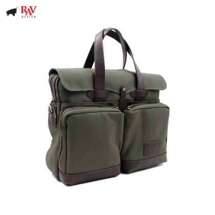 RAV DESIGN MESSENGER BAG CANVAS GREEN |RVC437G3