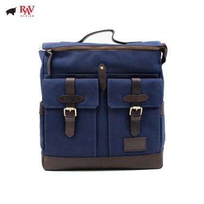 RAV DESIGN BACKPACK BAG CANVAS BLUE |RVC437G3