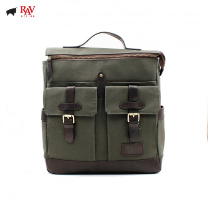 RAV DESIGN BACKPACK BAG CANVAS GREEN |RVC437G3