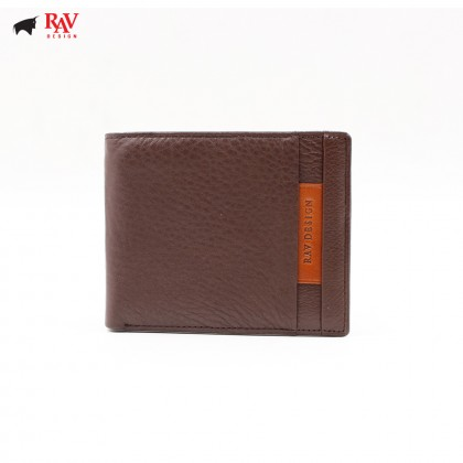 RAV DESIGN 100% LEATHER MEN SHORT WALLET |RVW570G1