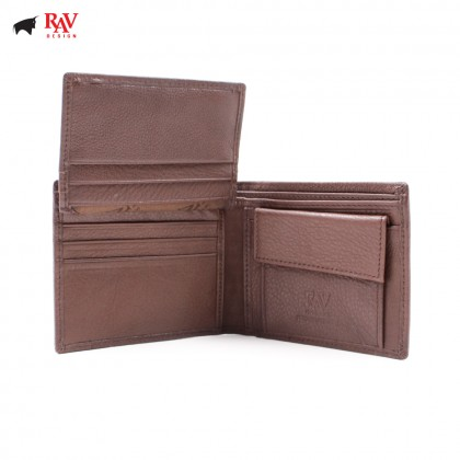 RAV DESIGN 100% LEATHER MEN SHORT WALLET |RVW568G1