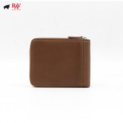RAV DESIGN 100% LEATHER MEN RFID SHORT WALLET |RVW565G2
