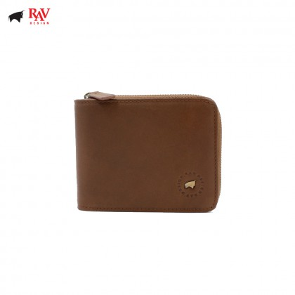 RAV DESIGN 100% LEATHER MEN RFID SHORT WALLET |RVW565G2