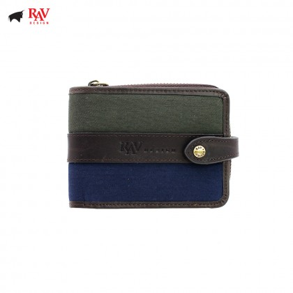 RAV DESIGN CANVAS MEN ZIP SHORT WALLET |RVW561G2