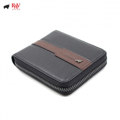 RAV DESIGN 100% LEATHER MEN SHORT WALLET WITH ZIP CLOSURE |RVW585G2(C)