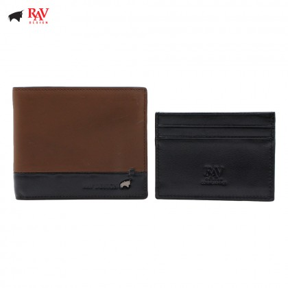 RAV DESIGN MEN SHORT WALLET WITH DETACHABLE CAR HOLDER |RVW586G1(B)