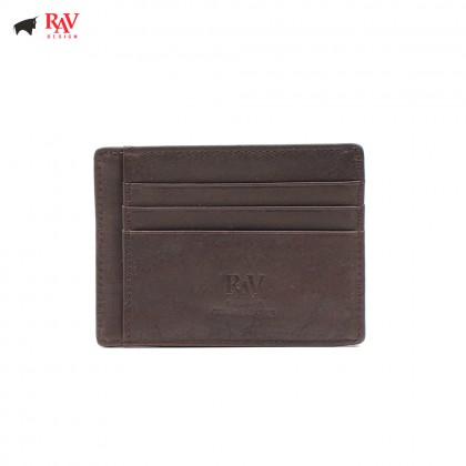 RAV DESIGN Leather Men Anti-RFID Card Holder |RVW560G3(D)