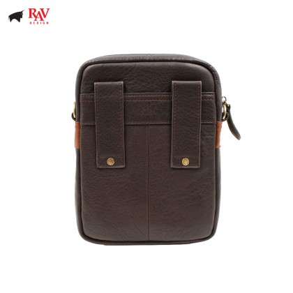 RAV DESIGN ANTI-RFID LEATHER SLING CROSSBODY BAG |RVC438G1