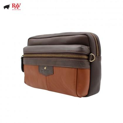 RAV DESIGN ANTI RFID LEATHER Pouch Bag |RVC438G2