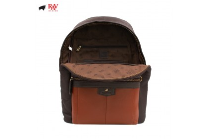 RAV DESIGN LEATHER CASUAL BAG BACKPACK ANTI-RIFD |RVC438G3