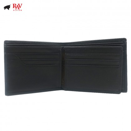 RAV DESIGN Leather Men Short Anti-Rfid Wallet |RVW589G1