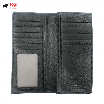 RAV DESIGN Leather Men Anti-RFID Long Wallet |RVW590G2