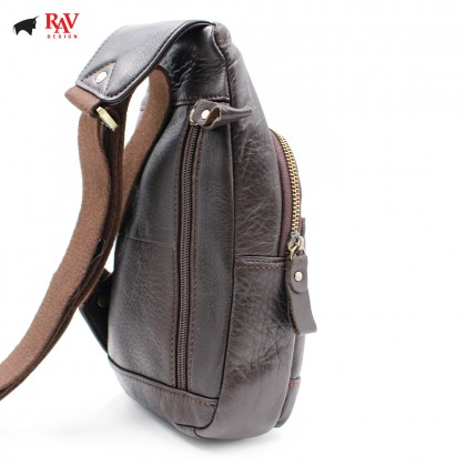 RAV DESIGN LEATHER SLING BAG CROSSBODY BAG |RVC442G2