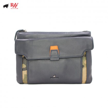 RAV DESIGN Leather Men Anti-RFID Clutch with Key Holder |RVC439G1