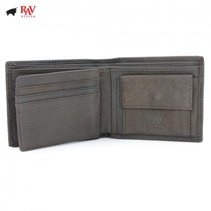 RAV DESIGN Leather Men Short Wallet with Coin Pocket |RVW591G1(B)
