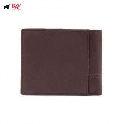 RAV DESIGN Leather Men Short Wallet with Zip Coin Pocket |RVW603G1(B)