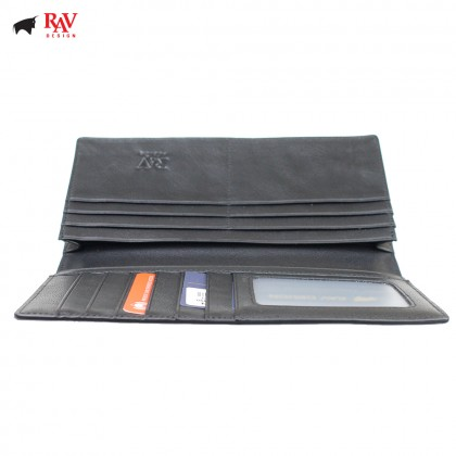 RAV Design Men Anti-RFID Leather Long Wallet Premium Edition |RVW613L2