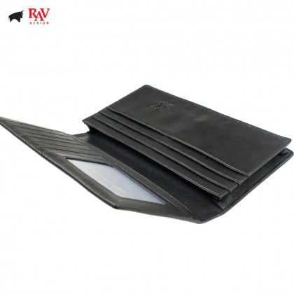 Rav Design Men Anti-RFID Leather Long Wallet Premium Edition |RVW613L2