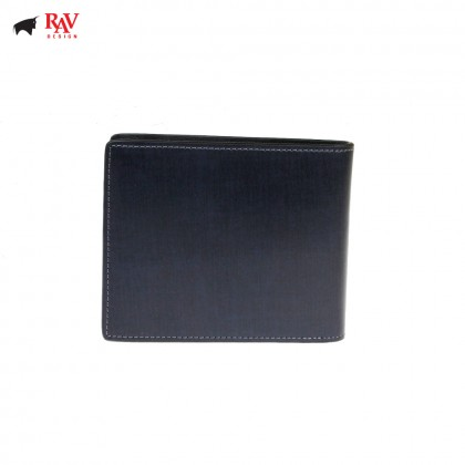 Rav Design Men Anti-RFID Leather Short Wallet Premium Edition |RVW613L1(B)