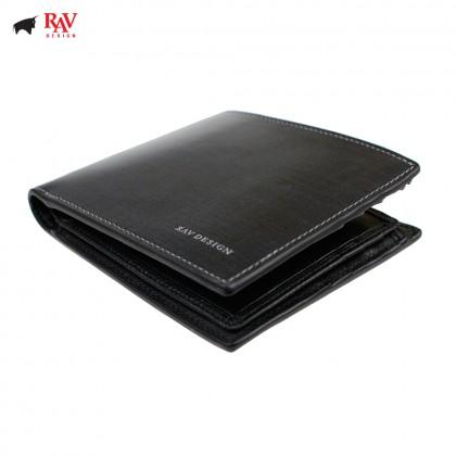 RAV DESIGN Men Anti-RFID Leather Short Wallet Premium Edition |RVW613L1(B)