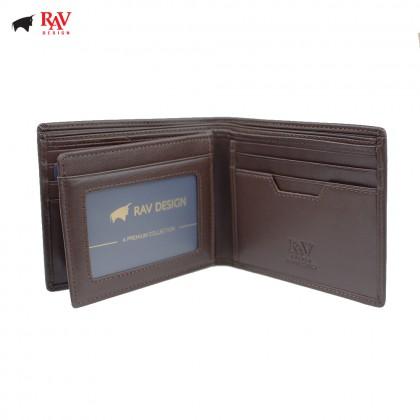 Rav Design Men Anti-RFID Leather Short Wallet Premium Edition |RVW612G1(B)