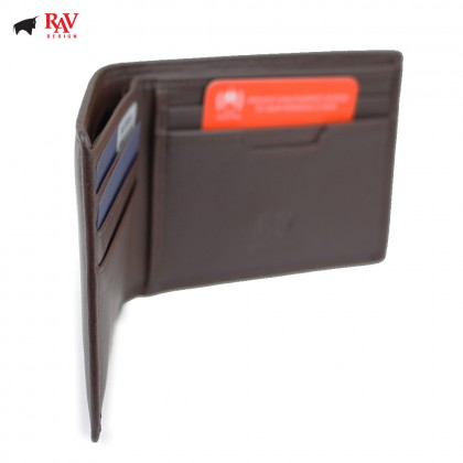 Rav Design Men Anti-RFID Leather Short Wallet Premium Edition |RVW612G1(A)