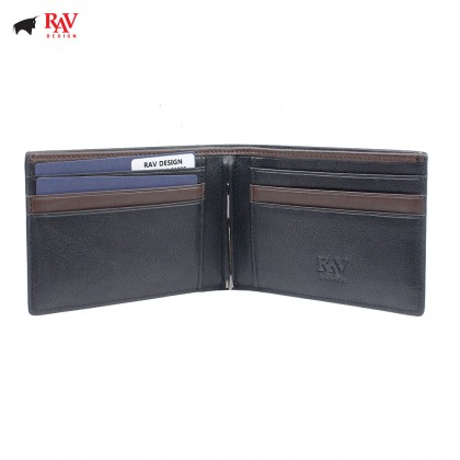 Rav Design Men Anti-RFID Leather Money Clipper Premium Edition |RVW611L3(C)