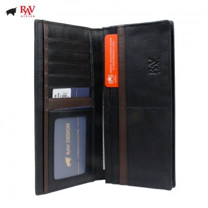 Rav Design Men Anti-RFID Leather Long Wallet Premium Edition  RVW611L2(B)