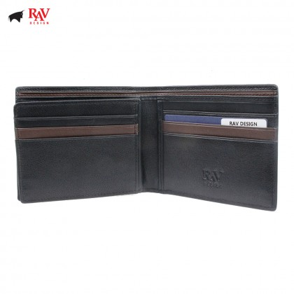 Rav Design Men Anti-RFID Leather Short Wallet Premium Edition |RVW611L1(A)