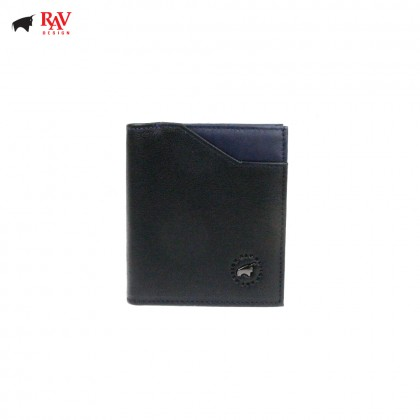 Rav Design Men Anti-RFID Leather Short Wallet Premium Edition BLUE |RVW609G1(A)