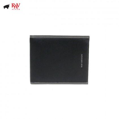 Rav Design Men Anti-RFID Leather Short Wallet Premium Edition |RVW608G1(B)