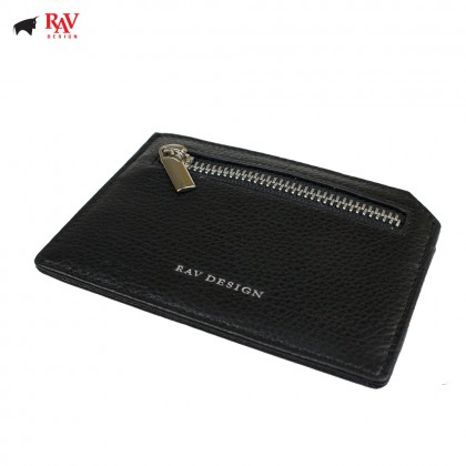 Rav Design Men Anti-RFID Leather Card Holder and Coin Pocket with Zip Premium Edition |RVW607G3(C)