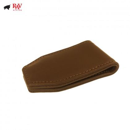 Rav Design Men Leather Money Magnectic Clipper Premium Edition Brown |RVW606G4(D)