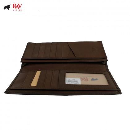 Rav Design Men Leather Long Wallet Premium Edition Brown |RVW601G2(C)