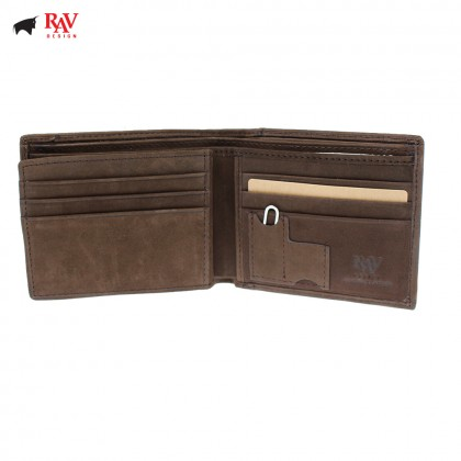 RAV DESIGN Men Genuine Leather Short Wallet |RVW600G1