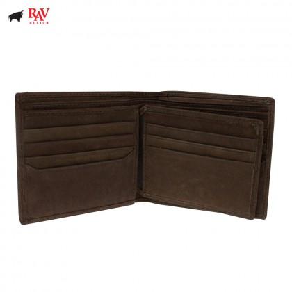 Rav Design Men Genuine Leather Short Wallet |RVW602G1