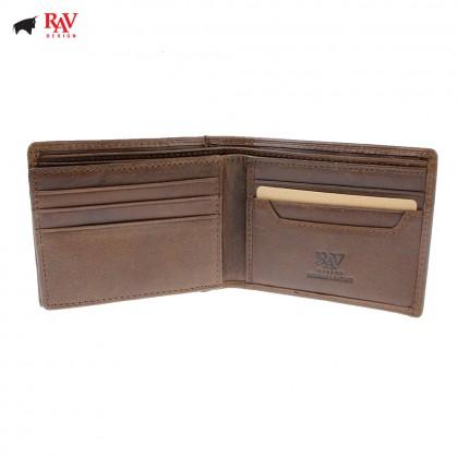 Rav Design Men Genuine Leather Short Wallet |RVW604G1