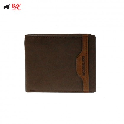 Rav Design Men Genuine Leather Short Wallet |RVW621G1