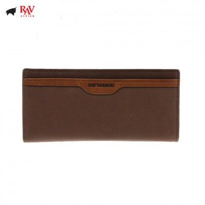 Rav Design Men Genuine Leather Long Wallet |RVW621G2(C)