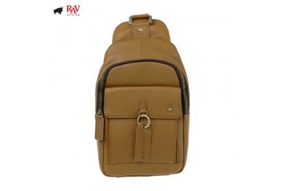 RAV DESIGN 100% Genuine Leather Chest Bag Light Brown  RVC454G3