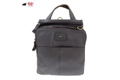 RAV DESIGN 100% Genuine Leather Sling Bag Dark Brown |RVC464G1
