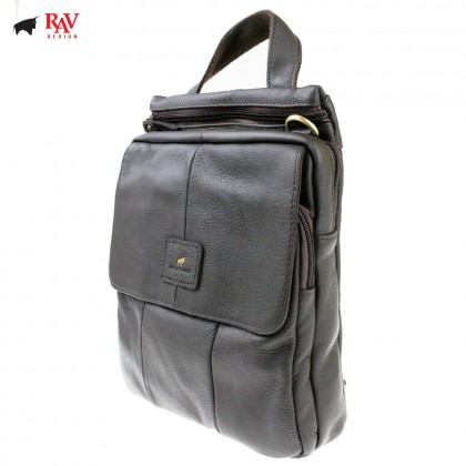 RAV DESIGN 100% Genuine Leather Sling Bag Dark Brown |RVC464G2